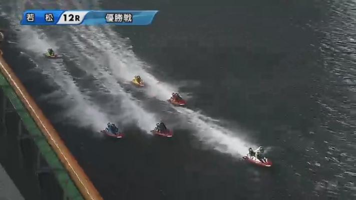 2020年G1ダイヤモンドカップ優勝戦 2番手争いは接戦で2周目 ボートレース若松・競艇場