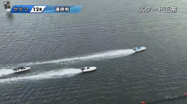 2020年G1からつ周年「全日本王者決定戦」優勝戦 丸野一樹選手トップのままレースは2周目へ 唐津競艇場・ボートレース