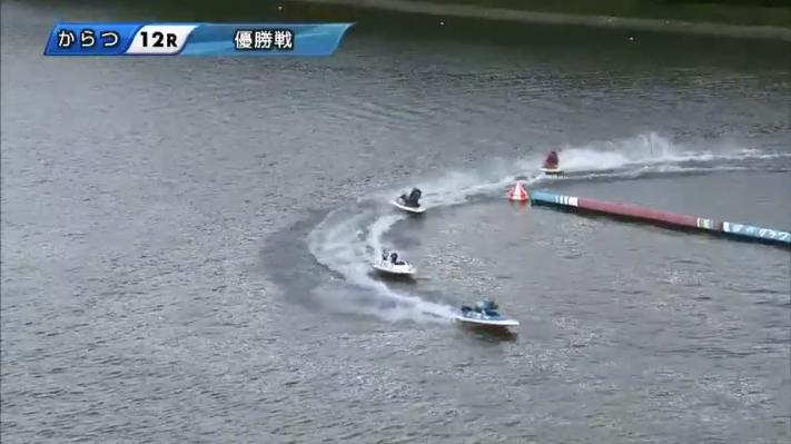 2020年G1からつ周年「全日本王者決定戦」優勝戦 2周2マーク 唐津競艇場・ボートレース