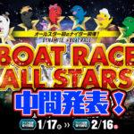 競艇SG第47回ボートレースオールスター ファン投票中間発表 ボートレース住之江ナイター|