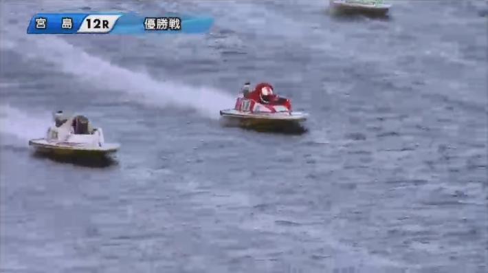【競艇G1】2020年中国地区選手権優勝戦 前本泰和選手と茅原悠紀選手の3番手争い ボートレース宮島