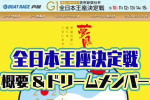 2020年5月芦屋周年G1「全日本王座決定戦」開設68周年記念 概要・出場レーサーまとめ ボートレース芦屋
