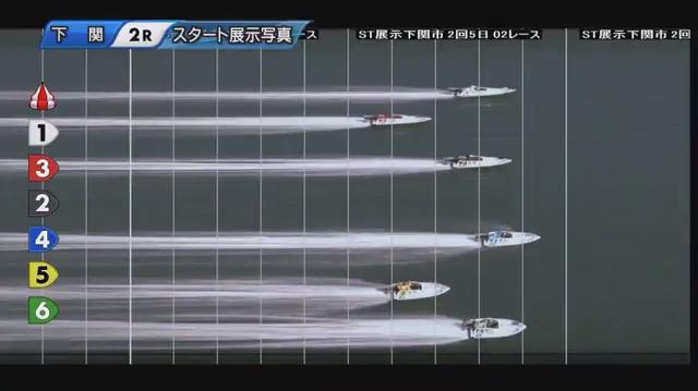 2020年5月上瀧和則選手の復帰戦・スタ展スリット写真 ご子息の上瀧絢也選手もデビュー。ボートレース下関・競艇