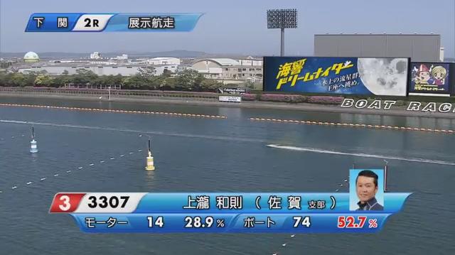 2020年5月上瀧和則選手の復帰戦・周回展示02 ご子息の上瀧絢也選手もデビュー。ボートレース下関・競艇