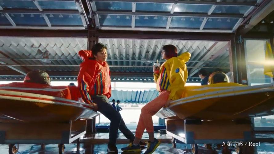 2020ボートレースCM『ハートに炎を。BOAT is HEART』第6話「ハートも骨抜き」篇「先輩。次のレース、抜きますよ」 武田玲奈・田中圭・競艇CM