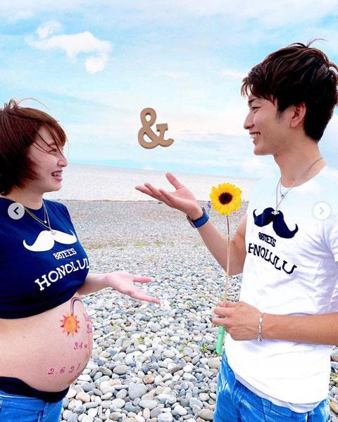 板橋侑我選手&勝又桜選手に第一子誕生。マタニティフォトその2 静岡支部・ボートレーサー