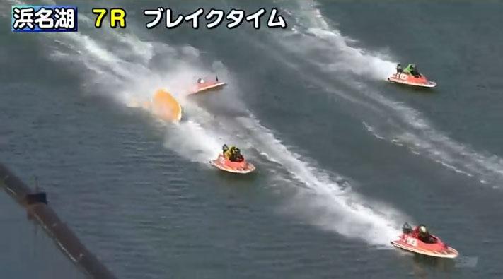 笠原亮選手が全治不明の重傷。お盆の地元レースでのアクシデントで。事故の瞬間04 静岡支部・ボートレーサー・事故
