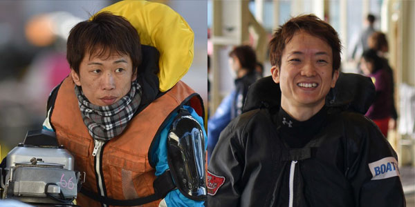 小坂宗司(こさか たかし)選手と興津藍(おきつあい)選手。106期・競艇選手・大阪支部・ボートレーサー