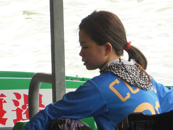 女子ボートレーサー出口舞有子(でぐちまあこ)選手。愛知支部・競艇選手