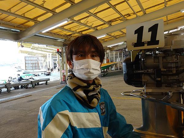 G1センプルカップ出場の三井所尊春選手。佐賀支部・ボートレース尼崎・競艇