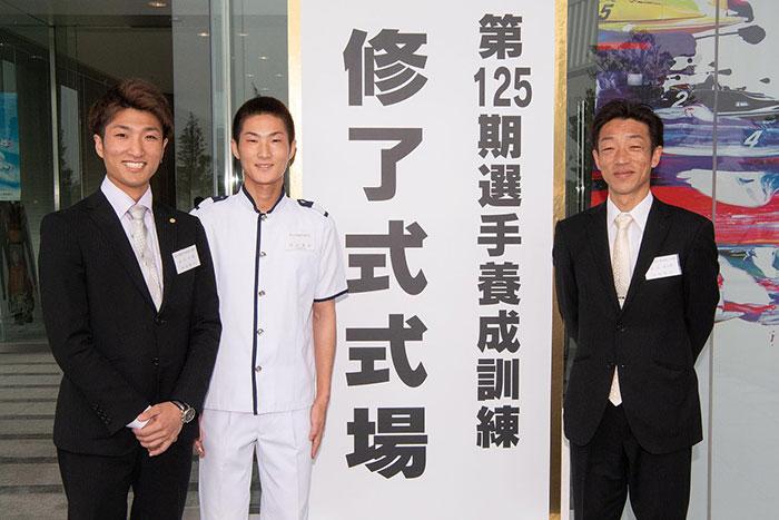 ボートレーサー原田富士男選手と原田才一郎(はらださいいちろう)選手と原田雄次選手。福岡支部・競艇選手