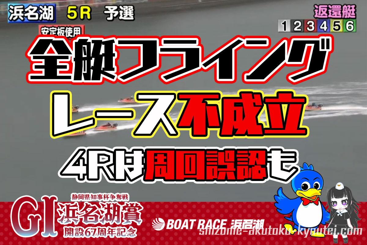 2021年3月G1浜名湖賞の初日は峰竜太選手を含む全艇フライングに吉田拡郎選手が周回誤認と大波乱即日帰郷即刻帰郷周年記念競艇|