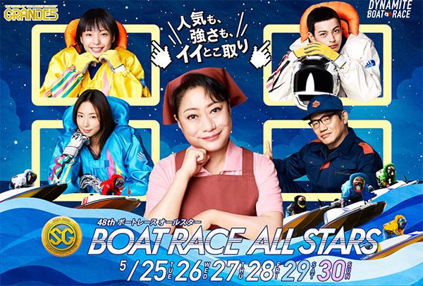 SG第48回ボートレースオールスターはボートレース若松。メインビジュアル。ボートレース・競艇