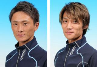峰竜太選手と弟子の上野真之介選手。ボートレース若松・競艇