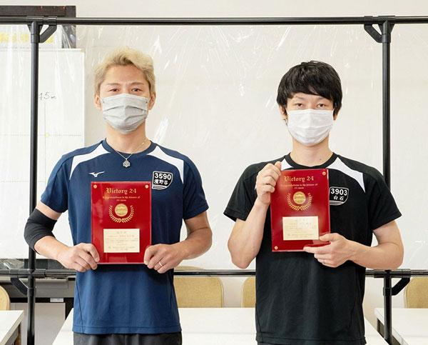 24場制覇を達成した白石健選手、濱野谷憲吾選手の表彰式!ボートレース平和島・記念盾・ボートレーサー・記録・競艇
